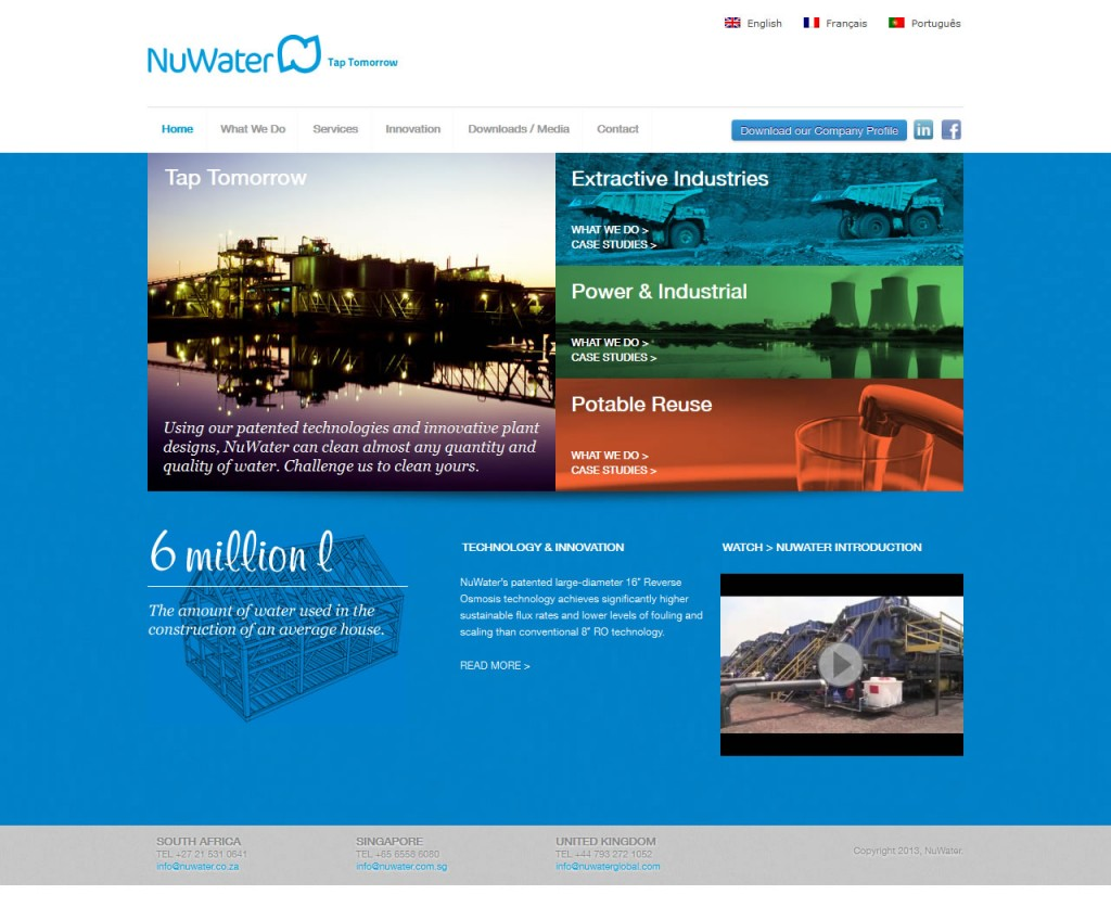 NuWater Global Website